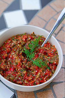 Икра из баклажанов и сладкого перца | Кулинарные заметки Алексея Онегина