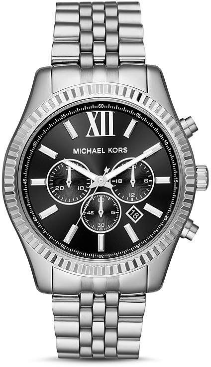 4d60056b5002 Michael Kors Silver-Tone Lexington Chronograph