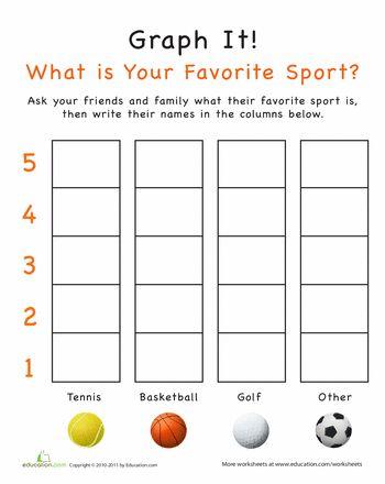 graph it what is your favorite sport math preschool graphs kindergarten math worksheets. Black Bedroom Furniture Sets. Home Design Ideas
