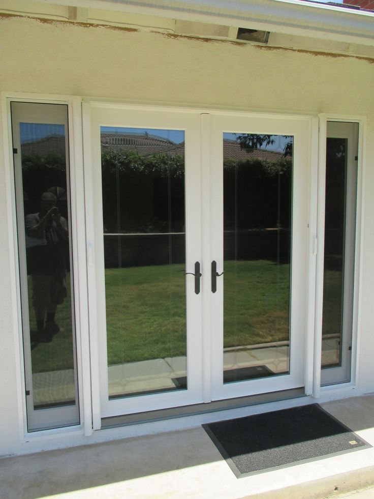 159 best french door stowaway retractable screen doors for French door sliding screen