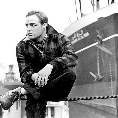 Marlon Brando in one of my all time favorite movies 'On the Waterfront' (1954, dir. Elia Kazan)