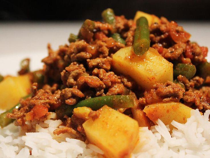 Kima Beef Curry & Rice