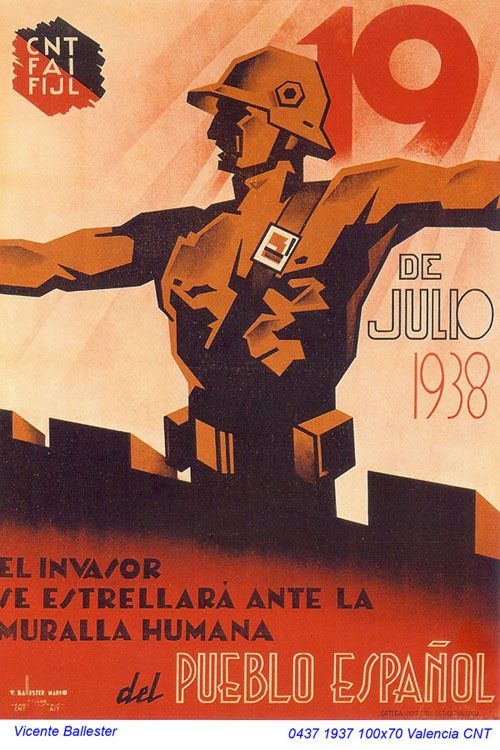 Spain - 1937. - GC - poster - autor: Vicente Ballester