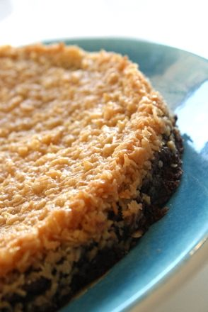 Kladdkaka med kokostopping | Jennys Matblogg