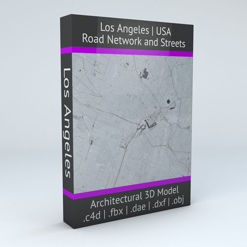 Los Angeles Road Network and Streets | 3D Model