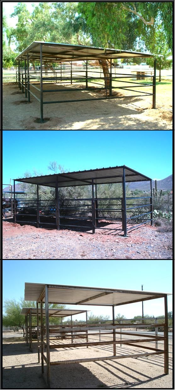 AZ style horse shelter.  These would make a great sun shade on those days when my herds are stuck in the dry lots.