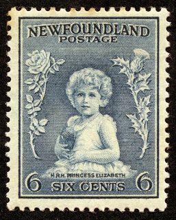 "Newfoundland 1932 Scott 192 6c dull blue ""Princess Elizabeth"" (later Queen Elizabeth II)"