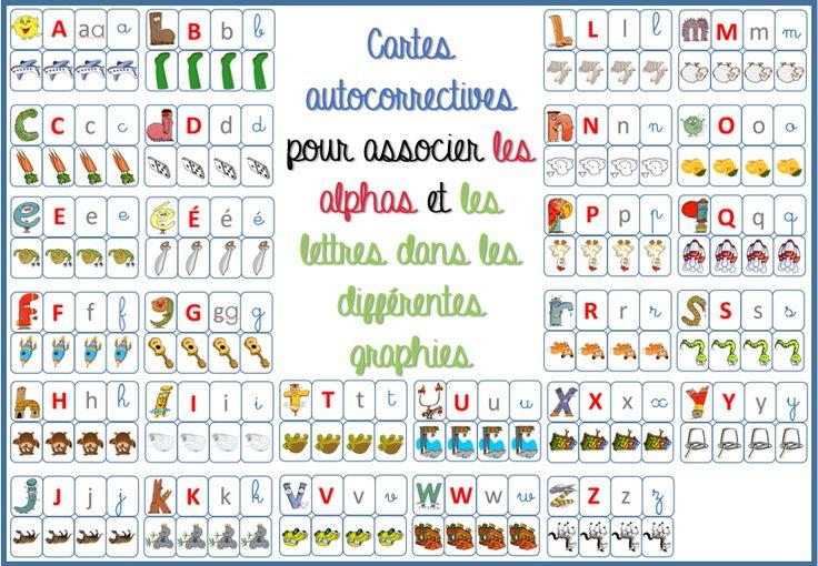 la Fouine en clis - carte auto correctives associer alphas et lettres différentes graphies