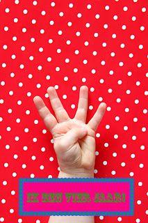 Met je vingertjes aangeven hoe oud je gaat worden op je eigen uitnodiging.