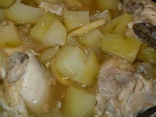 "KAUKAU TIME!--""Kaukau"" is a Hawaiian pidgin slang word meaning ""food"" or ""to eat."": Tinolang Manok (Chicken with Papaya in Ginger Soup..."