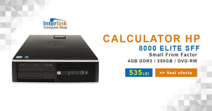 Calculatorul tău ocupă prea mult spațiu? Încearcă un calculator SFF (Small From Factor). Calculatorul HP 8000 Elite vine cu un procesor Core 2 Duo E8500 3.16 Ghz, 4GB RAM, 250GB spațiu de stocare și unitate optică DVD-RW la doar 535 RON! Intră acum și profită de cele mai bune prețuri!