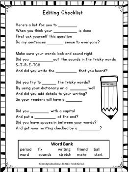 Year 1 writing assessment activities in the classroom