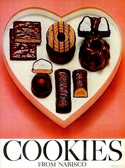 Ideal Cookies From Nabisco | Nabisco Chocolate-Covered Cookies — 1965 (Valentine's Day) | Retro ...