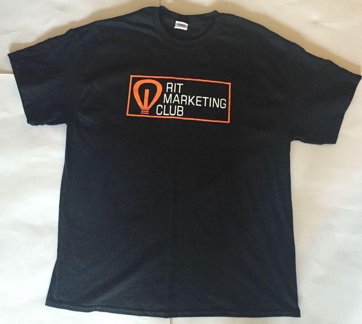 RIT Marketing Club Black T-shirt XL Rochester Institute Of Technology Lightbulb  | eBay