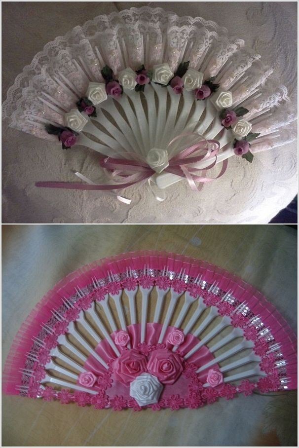 This Plastic Fork and Ribbon Fan is So Easy and Creative