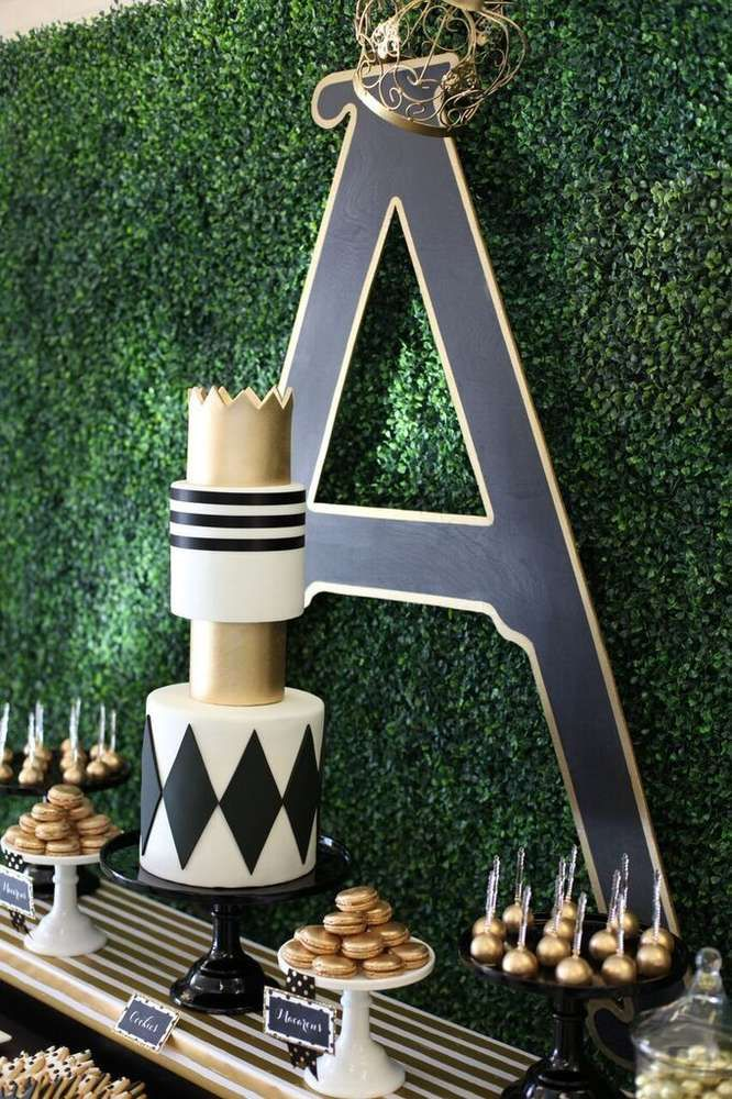 The birthday cake at this medieval prince 1st Birthday Party is stunning!! See more party ideas and share yours at CatchMyParty.com