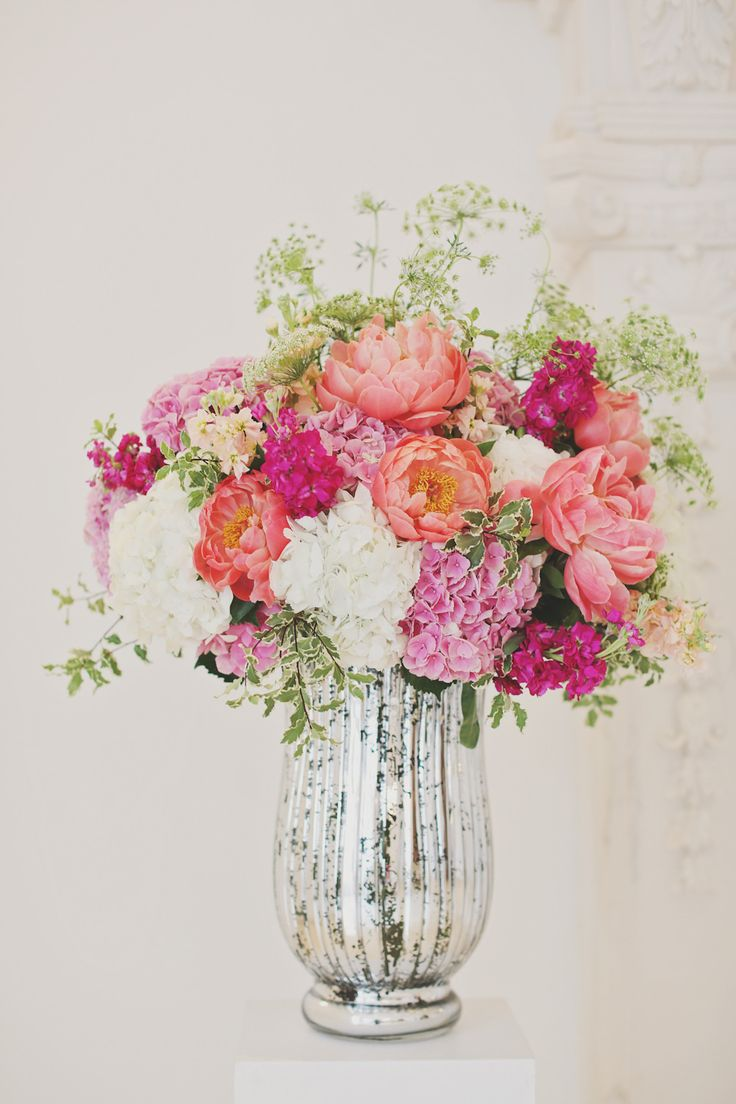 #peony, #centerpiece  Photography: Forever Photography Studio - foreverphotographystudio.com  Read More: http://www.stylemepretty.com/2014/01/06/colorful-chateau-cocomar-wedding/