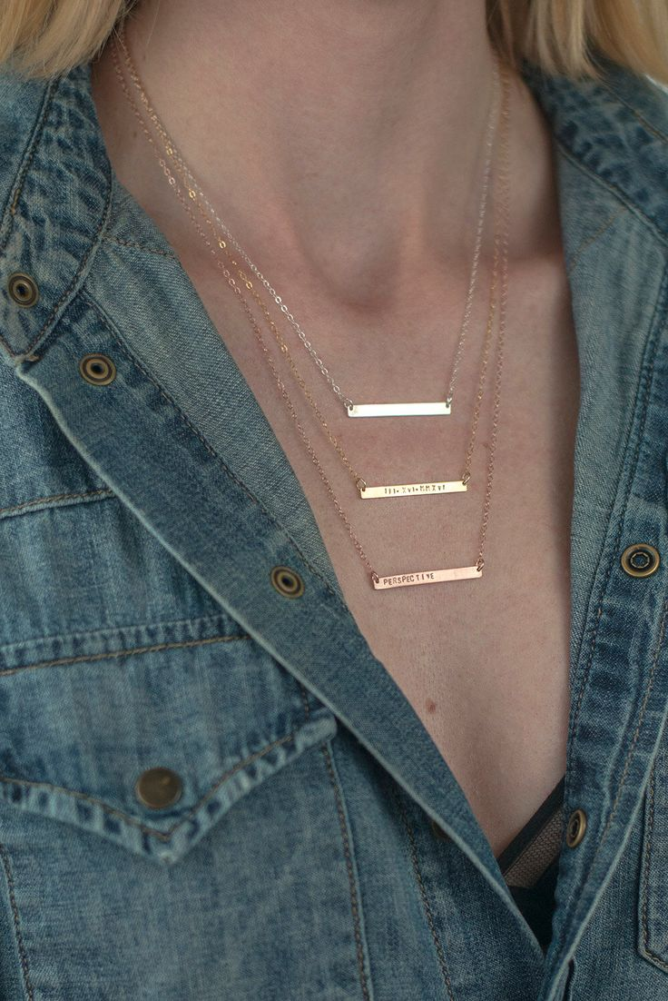 Thin Bar Necklace, Initial Custom Necklace, Bar Name Necklace, Silver Skinny Bar Necklace Name, Monogram Thin Personalized Bar Necklace Gold door FreshyFig op Etsy https://www.etsy.com/nl/listing/247828423/thin-bar-necklace-initial-custom