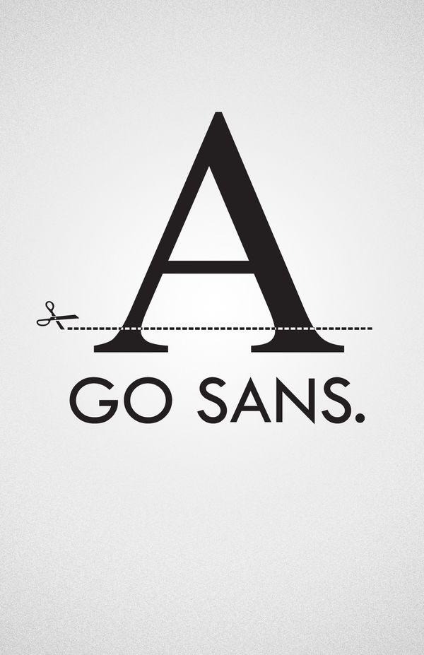 typeface and scissors