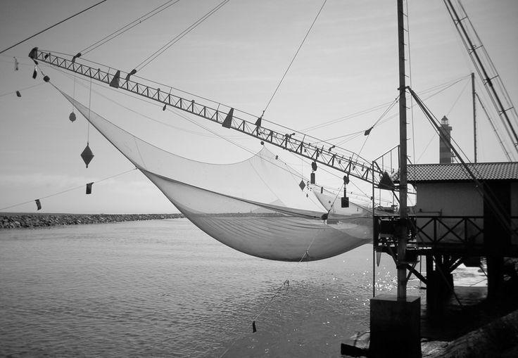 Foto delle bilance da pesca - Casa Zaffalon U.A.N.C. / Mare di Cavallino-Treporti (Venezia) Italia. Affittiamo vicino al porto.