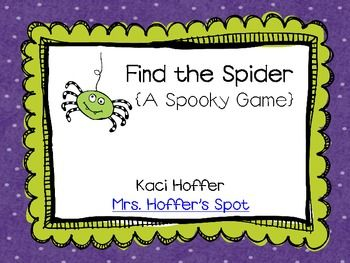 Find the Spider {A Spooky Game}