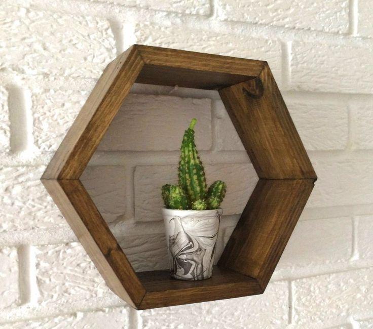 Hexagon Shelf Pine