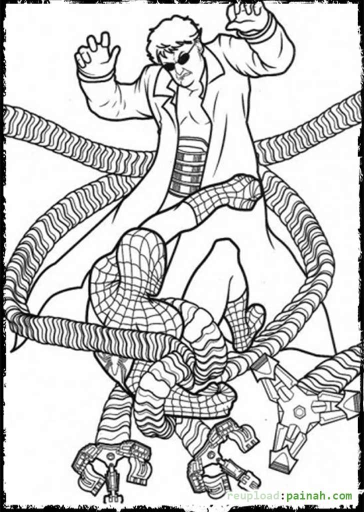 Spiderman Villains Coloring Pages Spiderman Coloring Coloring Pages Cartoon Coloring Pages
