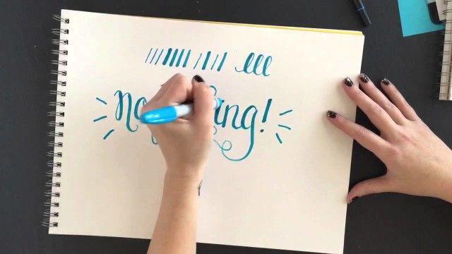 Thử nét vẽ với Sharpie Brush Marker