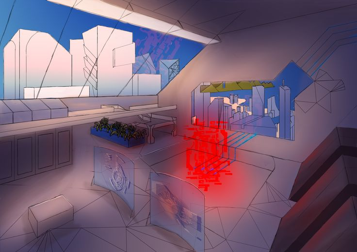 City Control Center - University Visual Design Assignment 1 - Early 2014 | Photoshop.