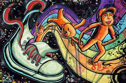 2012 동명대 실기대회 금상  발상과표현 소재 : 신발 주제 : 동심표현