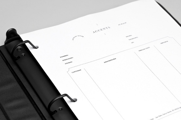 Accents designed by LaTortilleria #stationery #invoice