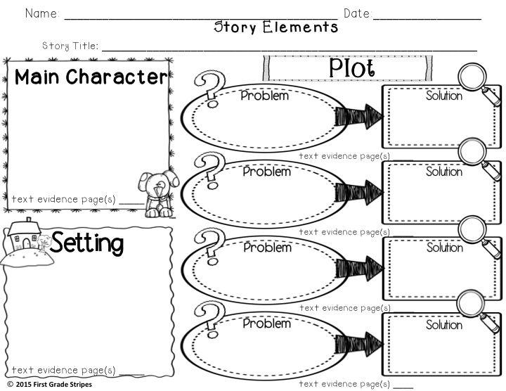 Plot Development: Problem & Solution Graphic Organizers