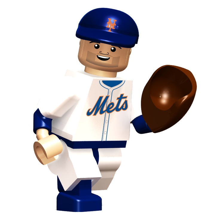 David Wright In Lego Form Neat My Favorite Knuckleballer R A Dickey Will Be Available Soon As Well As Other Mets Players Lego Baseball Lego Sports Oyo