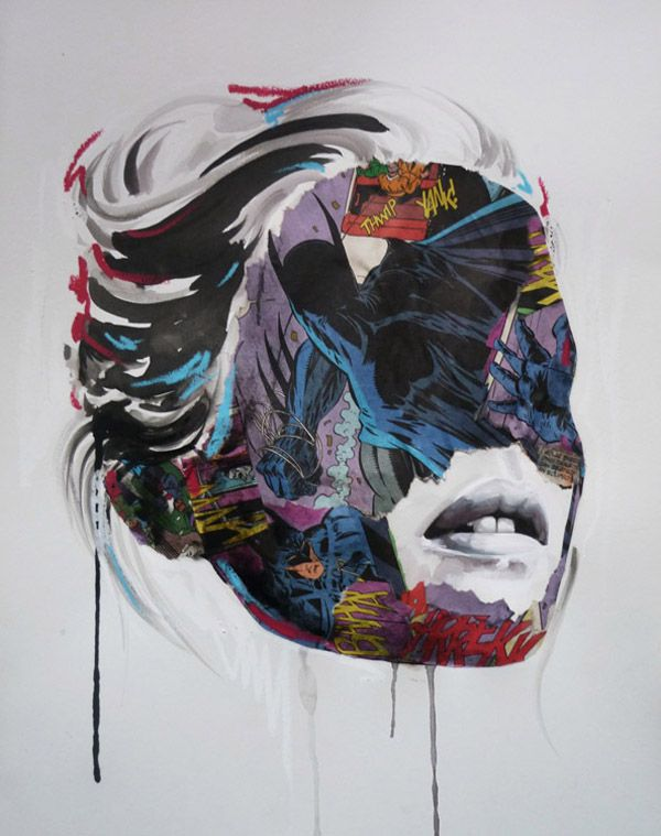 Sandra Chevrier's brushstrokes of paint in varying densities create dynamism that's pure dynamite.