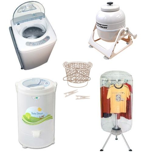 portable washer and dryer etc.... I love portable... that means I can move it myself and don't have to wait for someone to help me.