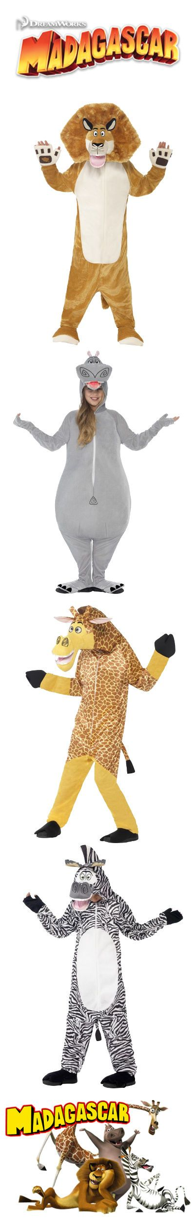 #Disfraces de la película #Madagascar para #Niños #Alex #Melman #Marty #Gloria