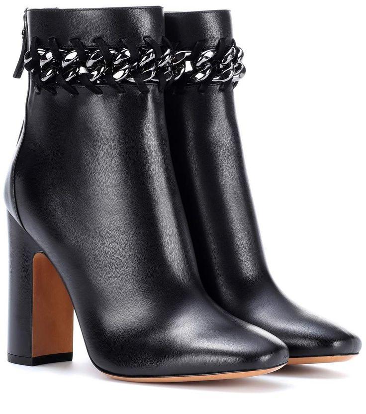 Valentino Valentino Garavani embellished leather ankle boots