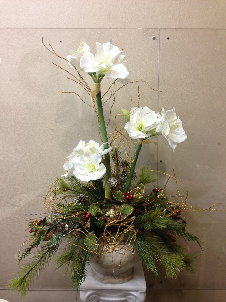 Christmas amaryllis silk and craft creations pinterest for Amaryllis christmas decoration