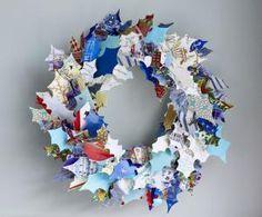 11 Ways to Upcycle Christmas Cards: Christmas Card Wreath