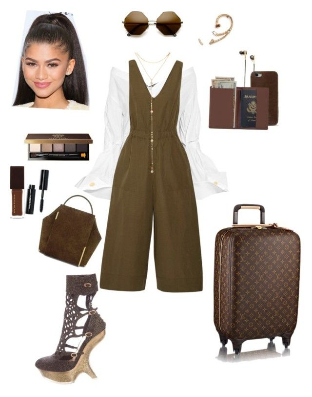 """Private Jet Flights 🛩"" by aurora-cristaux on Polyvore featuring Carmen March, Jacquemus, Ulla Johnson, Alexander McQueen, ZeroUV, Fragments, Caeden, Xiao Wang, J.W. Hulme Co. and Royce Leather"