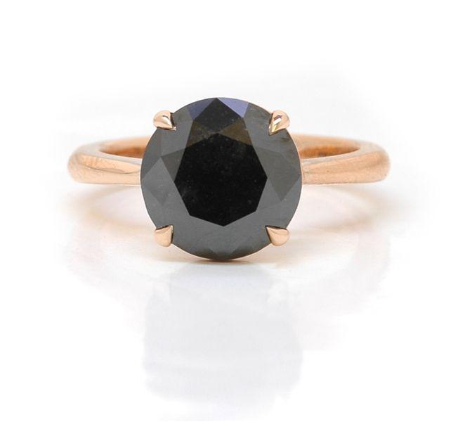 Leibish & Co. #black #diamond rose gold solitaire #brittspick