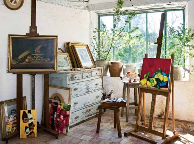 17 best images about art studio ideas on pinterest - Decoration style atelier ...