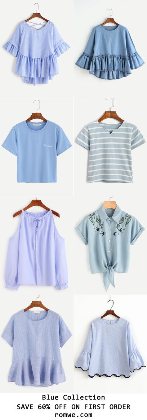 Sky Blue Collection 2017 -romwe.com