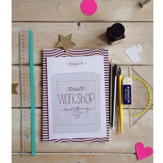 """@happymakersblog's photo: """"Dank @poppyredontwerp voor je twee enthousiast ontvangen handletter-workshops @seinfestijn. Big thx ook voor @wowgoods vd mooie schriften die alle deelnemers meekregen. #seinfestijn #papieratelier ##handlettering #handwriting"""""""