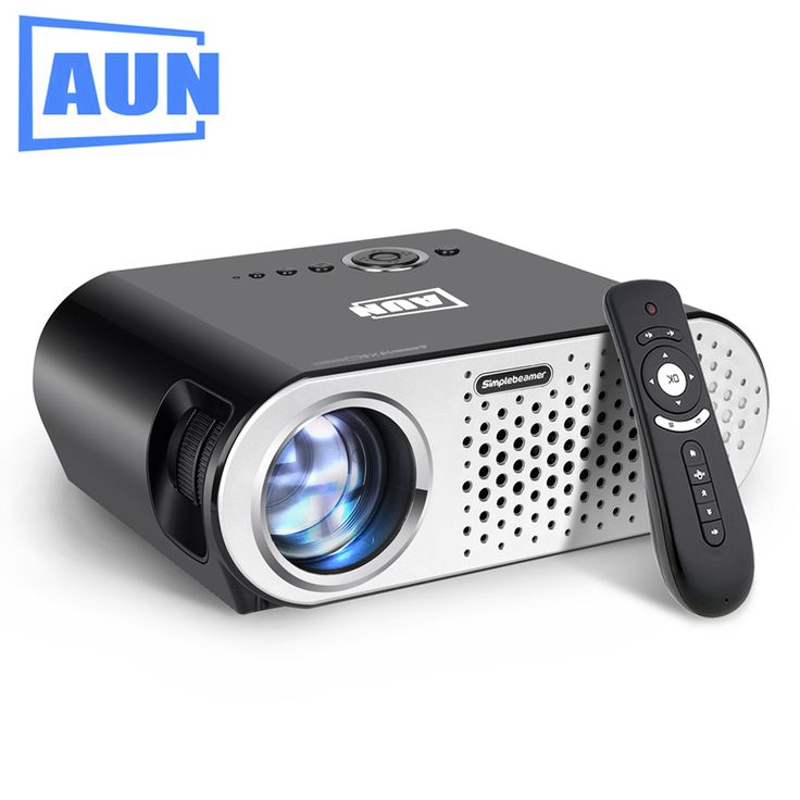 AUN Projecteur 3200 Lumen T90, 1280*768 (En Option Android Projecteur avec 2.4G Air Mouse, Bluetooth WIFI, Soutien KODI AC3) LED TV