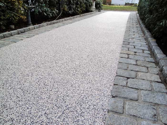 Stone Gravel Resin Grey Resin Bound Aggregate With Wide Set Trim
