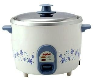 Sanyo 5-Cup Rice Cooker & Vegetable Steamer for 220 Volt Countries (Not for USA Use) by Sanyo