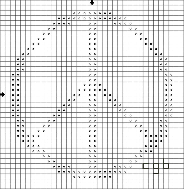 Simple cross sitch peace sign pattern. I may try making this out of tulle strips on the hardware cloth of my chicken coop.