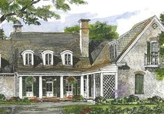 Sabine River Cottage - John Tee, Architect | Southern Living House Plans