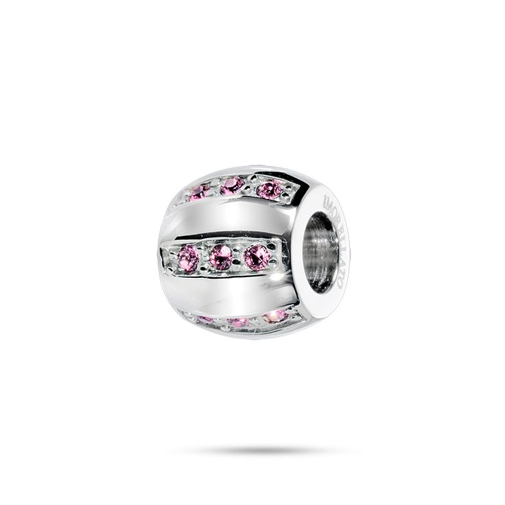 Charm for baby - CHARM COLL.DROPS in STEEL, CRYSTALS - SCZJ8W